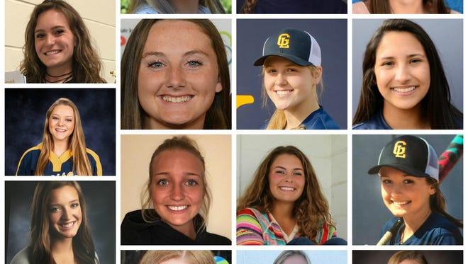 See members of the 2017 LSJ softball Dream Team.