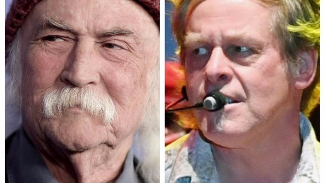 David Crosby (L) and Ted Nugent are not seeing eye-to-eye.