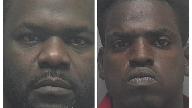 Derrick Edwards (left) and Carey Bursey were arrested after leading Fort Myers police on a high-speed chase on Tuesday, Dec. 26, 2017.