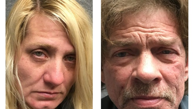 Jennifer Baldwin, 43, (left) and Herman Matasar, 62, were arrested this week following a homicide investigation in Reno. The couple were arrested in Jacksonville, Fla. and each face murder with a deadly weapon for the death of 48-year-old John Kent Lovely. All arrested are innocent until proven guilty.