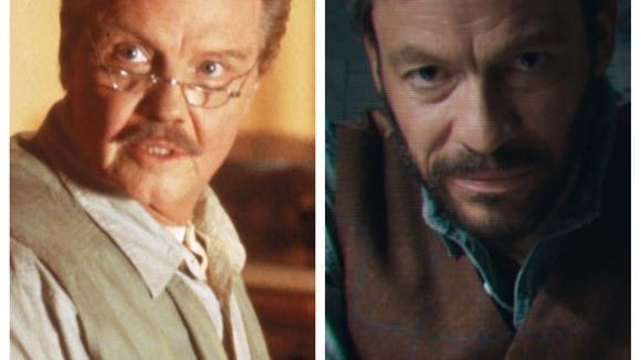 Jon Voight (left), Angelina Jolie's father, played Lara Croft's explorer dad in 2001. Dominic West steps in for 2018.
