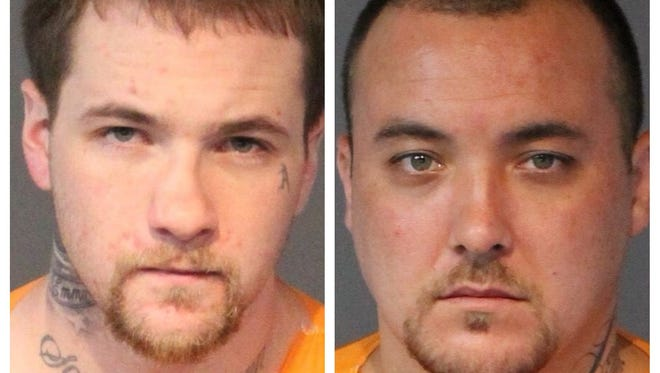 Connor Timothy Woods, 27, left, and Michael Miller, 31, were both convicted of robbing a 7-Eleven store in Reno on Black Friday in 2016.