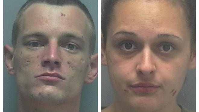 Travis Lee Townsend, 25, and Jerica Jean Godwin, 22, of Cape Coral, were seen allegedly breaking into Williamson and Sons Marine Construction on Pine Island Road.