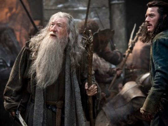 Elves, dwarves and men fight over Smaug's treasure.