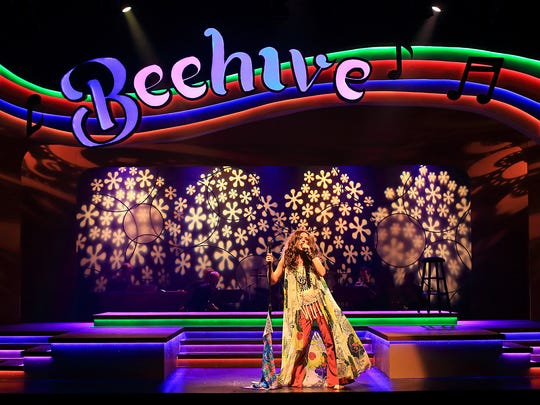 """Nicole Winter as Janis Joplin in the Flat Rock Playhouse production of """"Beehive: The '60s Musical."""""""
