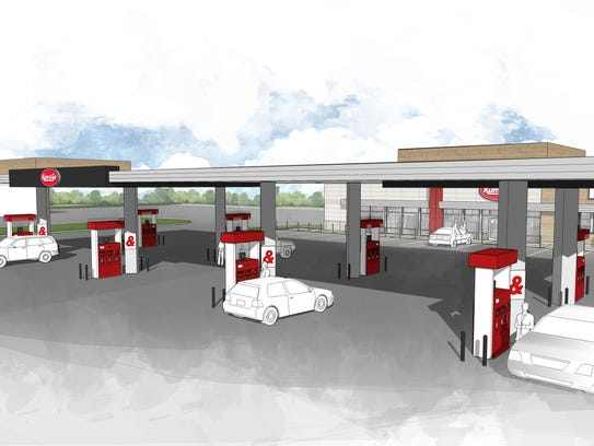 A rendering of the new Kum & Go Marketplace stores