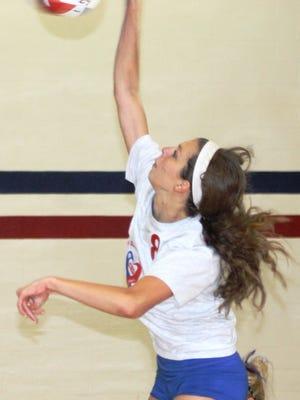 Ryan Clemmons is a key outside hitter on this season's Westland John Glenn volleyball team.