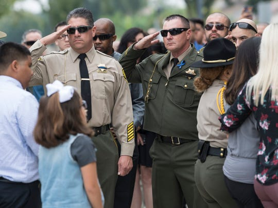 Services were held Friday, October 5, 2018 for correctional officer Armando Gallegos, Jr. at Visalia First Assembly. Gallegos, a 13-year veteran, and another officer were attacked by inmates April 21 at Kern Valley State Prison in Delano. He died September 14.