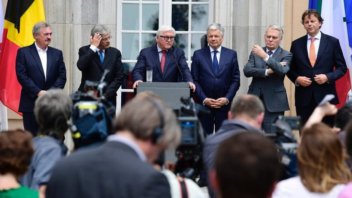 European Union foreign ministers meet in Berlin on