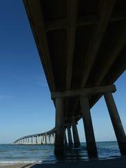 The Chesapeake Bay Bridge-Tunnel as seen from Fisherman