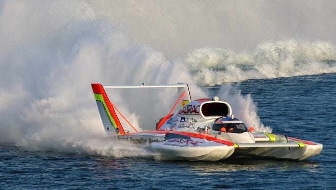 Canton native Andrew Tate is currently the H1 Unlimited Hydroplane points leader.