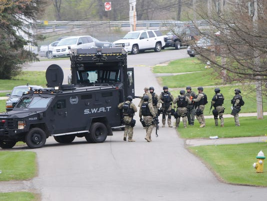 Stand off on Randall Rd.