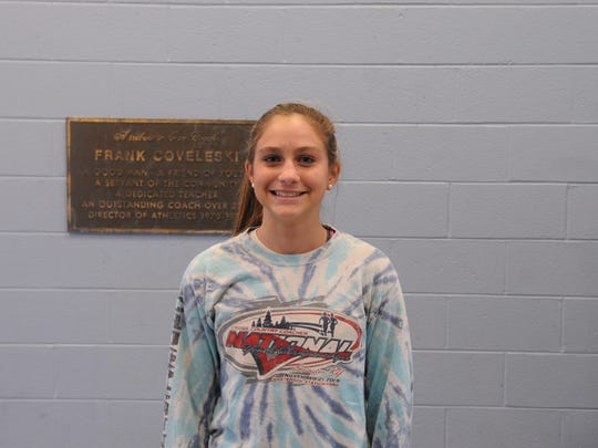 Cape Henlopen freshman Olivia Brozefsky recently came in fourth overall in the Henlopen Conference cross country meet.