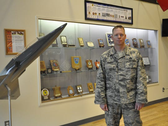 Chief Master Sgt. Benjamin Hedden is seen Tuesday outside