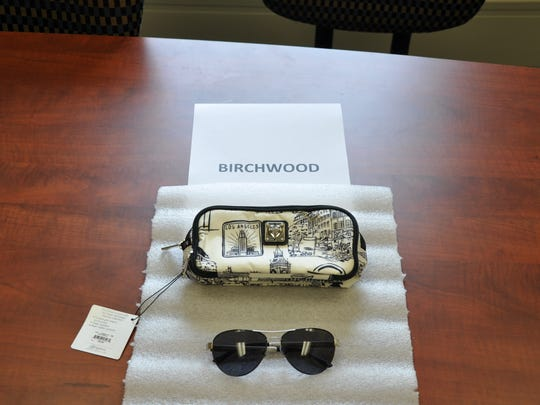 A pair of sunglasses allegedly taken from Birch Wood