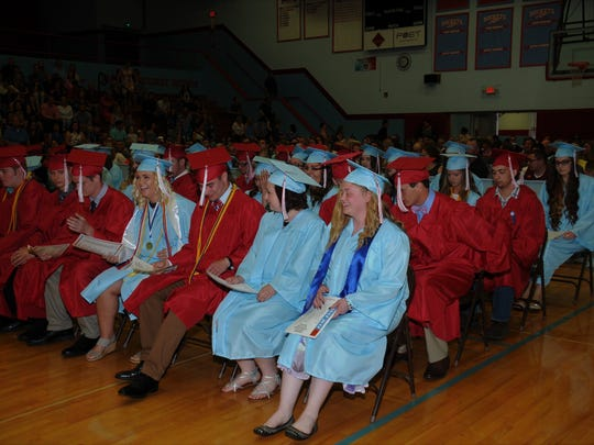 Ridgedale High School graduates of the class of 2017.
