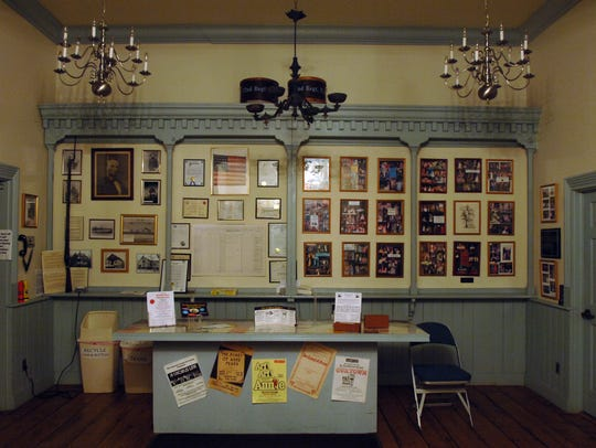 The lobby of the Civil War Armory and Drill Hall Theatre