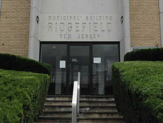 Ridgefield municipal building on Broad Avenue in the
