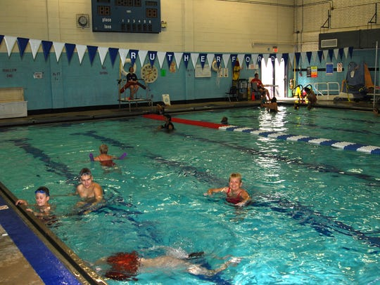 The Rutherford High School pool.