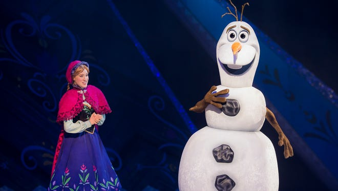 """""""Frozen"""" will be one of four stories featured in """"Disney on Ice Presents Passport to Adventure"""" Feb. 8-12 at the Resch Center in Ashwaubenon."""