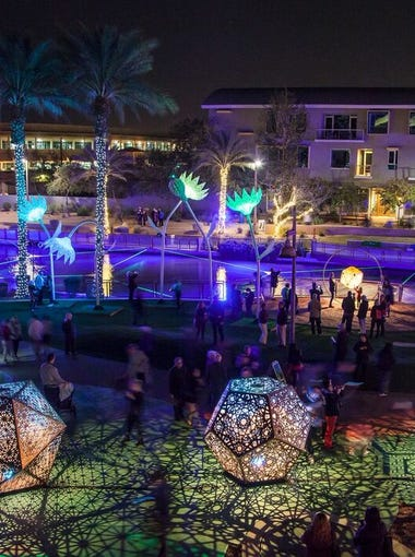 Canal Convergence: Water + Art + Light is the annual free event on Scottsdale's waterfront. This year it runs 4 to 10 p.m. on Friday, Feb. 23 and Saturday, Feb. 24, and Friday, March 2 and Saturday, March 3.