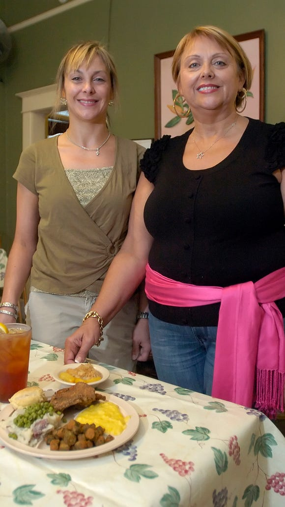 Diann Alford and daughter Amanda Griffin run the Two Sisters Kitchen on N. Congress Street in Jackson.