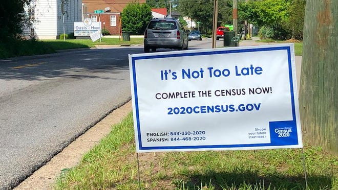 A sign beside Waters Ave. in Savannah encourages residents to submit their 2020 Census responses.