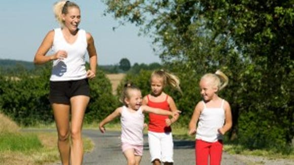 Moms set the tone for active children.