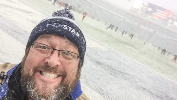 The snow at the Colts game made it challenging to photograph, but, man, it was fun