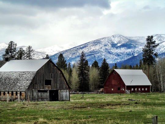 Two barns near Lincoln