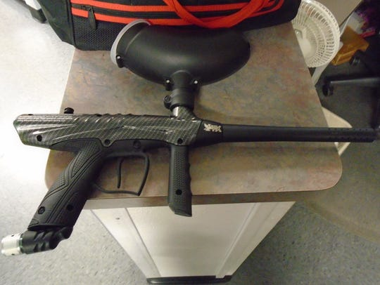 Police found this paintball gun that was used in an