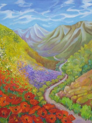 Paintings by Marie App will be on display at the Hang Up Gallery of Fine Art.