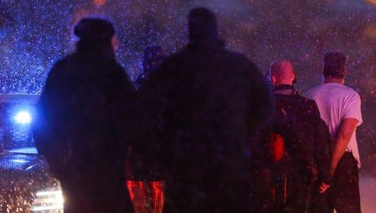 Planned Parenthood gunman being taken into custody in Colorado Springs.