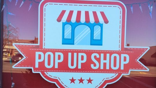 The Pop-Up Shop will be returning to downtown Marshfield on July 1, 2016.