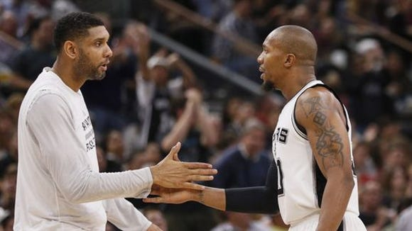 David West was once the wise, old man in the Pacers locker room. Now he's the sixth oldest on the Spurs' veteran roster.