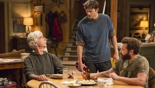 Sam Elliott, left, Ashton Kutcher and Danny Masterson star in 'The Ranch.'