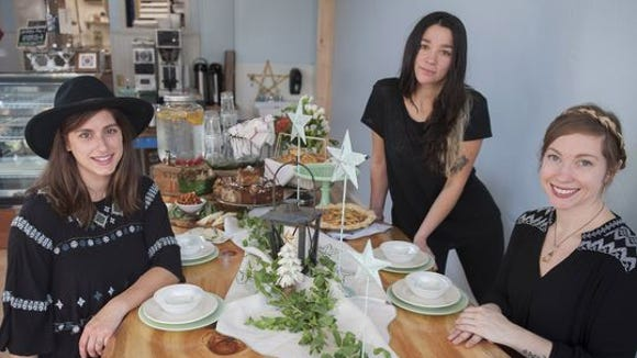 Valentina Fortuna (center) is shown with Constellation Collective co-founders Maura Rosato (left) and Lindsey Ferguson in the Collingswood cafe and bakery. Fortuna won the Rising Star Chef award Sunday at the 2018 Garden State Culinary Arts Awards.