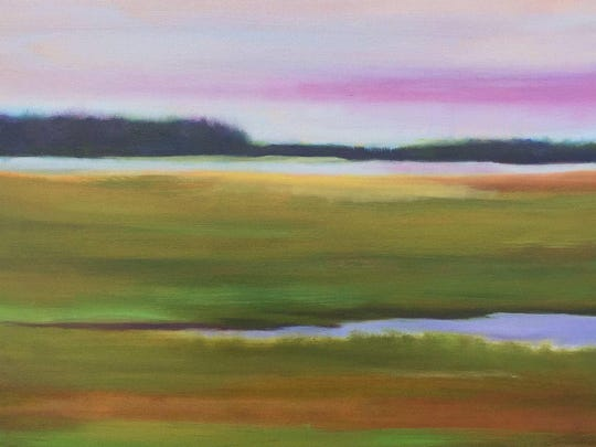 "Lynne Towne's ""Vineyard Marsh"" is included in the annual ""African-American Artists of the Hudson Valley"" exhibit on view at the Howland Cultural Center."