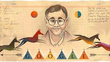Google's doodle on Friday honored Montana artist James Welch.