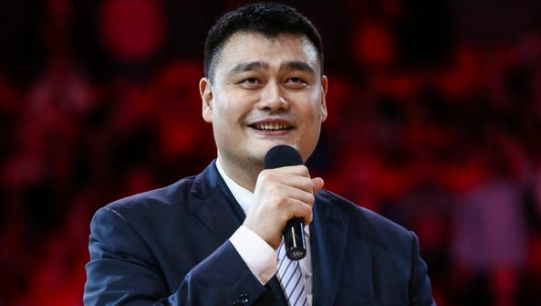 Yao Ming has been elected president of the Chinese