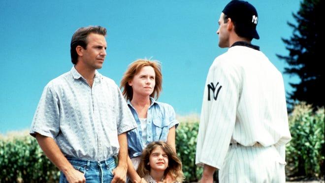 """Kevin Costner, far left, stars in """"Field of Dreams."""""""