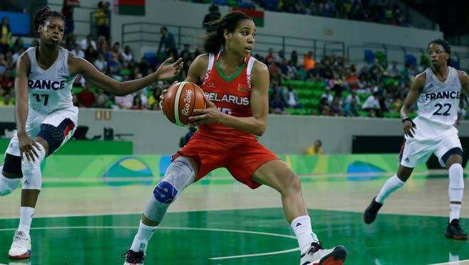 Guard Lindsey Harding is from Alabama and plays in the WNBA. But why is she playing Olympic basketball for Belarus?
