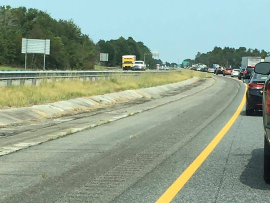 Drivers encounter heavy traffic along Interstate 75