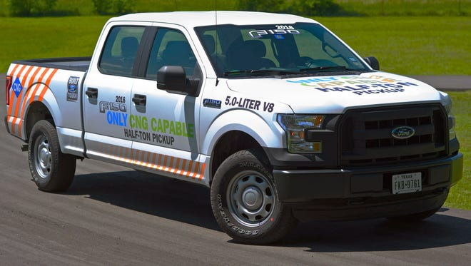 2016 Ford F-150 with the 5-liter V-8 engine will offer a propane and natural gas option