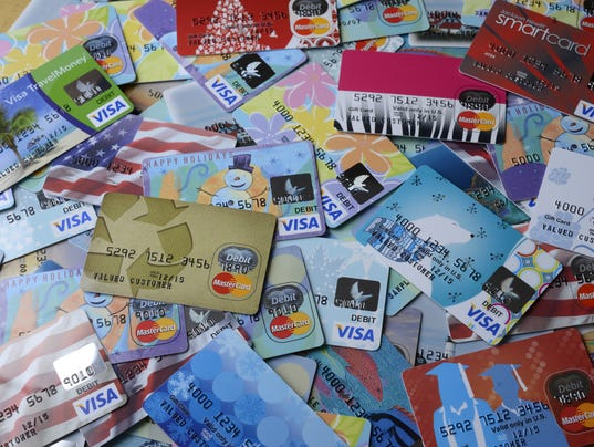 Sample prepaid cards from metabank photo argus leader file photo
