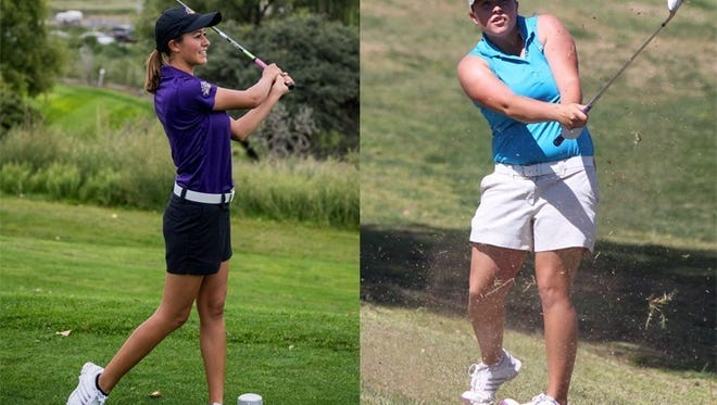 Western New Mexico University Mustang golfers , Shelby Turner, left, and Bobbi Pierson, will be conducting this year's Junior Golf Camp July 5-8 at the Rio Mimbres Golf Course in Deming.