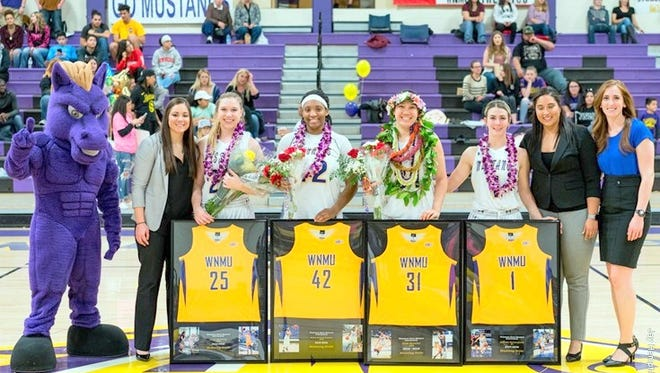 WNMU basketball star Jade Botelho (31) was on of four seniors this past season. She logged 109 games, scored 944 points, 467 rebounds, 81 assists, 52 blocks and 126 steals while logging an incredible 2,728 minutes.