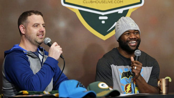 Brett Christopherson was honored for his work on Clubhouse Live, a weekly Packers show he co-hosted last season with Packers running back Ty Montgomery.