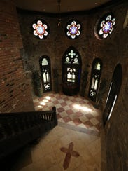 """The """"chapel"""" in this castle in north Yonkers, photographed"""