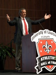 The UL Ragin' Cajuns Letterman Club hosted a reception